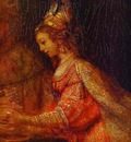 Rembrandt Esther  Detail of Assuerus, Haman and Esther