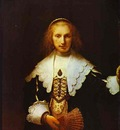 Rembrandt Portrait of Agatha Bas, Wife of Nicolas van Bambeeck