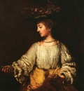 Rembrandt Portrait of Hendrickje Stofells as Flora, 1659, Me