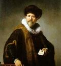 Rembrandt Portrait of Nicolaes Ruts [1631]