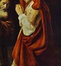 Rembrandt Sacrifice of Manoah  Detail