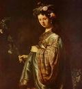 Rembrandt Saskia as Flora