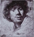 Rembrandt Self Portrait with Wide Open Eyes