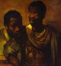 Rembrandt Two Negroes