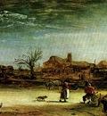 Rembrandt Winter scene, 1646, Oil on canvas, Staatlische Gem