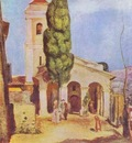 Pierre Auguste Renoir A Church at Cagnes