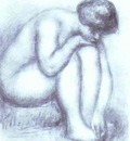 Pierre Auguste Renoir Bather Drying Herself