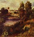 Pierre Auguste Renoir Landscape at Vetheuil