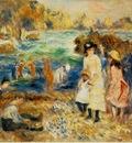 Renoir Beach Scene, Guernsey Enfants au bord de la mer a Gu