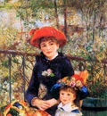 Renoir Pierre Auguste On the terrace Sun