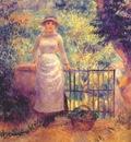 renoir aline at the gate girl in the garden