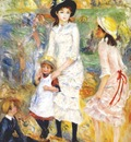 renoir children on the seashore, guernsey