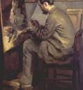 renoir frederic bazille at his easel