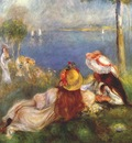 renoir girls on the seashore