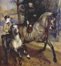 renoir riding in the bois de boulogne