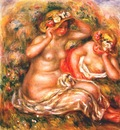 renoir two nudes wearing hats