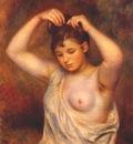 renoir woman arranging her hair