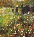 renoir woman with a parasol in a garden