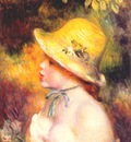 renoir young girl in a straw hat