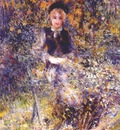 renoir young girl on a bench