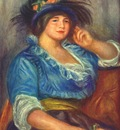 renoir young woman with a rose in her hat