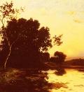 Richet Leon Le Lac Au Crepuscule