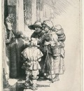 rembrandt beggars at the door