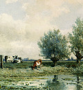 Roelofs Willem A Summer Landscape With Grazing Cows