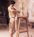 Ross In the Sculptor s Studio