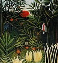 Rousseau,H  Landscape with monkeys, ca 1910, Barnes foundati