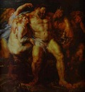 Peter Paul Rubens Hercules Drunk, Being Led Away By a Nymph and a Satyr