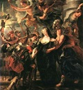 Rubens The Queen Flees France, 1621 1625, Louvre