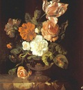 ruysch flowers in a vase