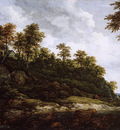 Ruysdael van Jacob Hilly landscape Sun
