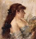 Rysselberghe Poprrait of a Lady with a Fan