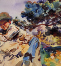 Sargent John Singer Boy on a Rock