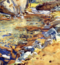 Sargent John Singer Brook among Rocks