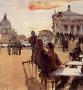 Sargent John Singer Cafe on the Riva degli Schiavoni