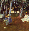 Sargent John Singer Claude Monet Painting by the Edge of a Wood