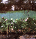 Sargent John Singer Landscape with Rose Trellis