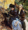 Sargent John Singer Miss Wedewood and Miss Sargent Sketching