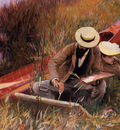 Sargent John Singer Paul Helleu Sketching with His Wife