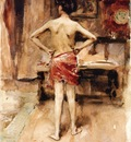 Sargent John Singer The Model Interior with Standing Figure