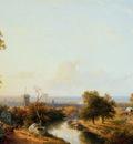 Schelfhout Andreas Riverlandscape Sun