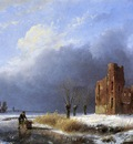 Schelfhout Andreas Scater near ruin Sun