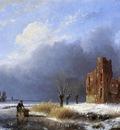 Schelfhout Andreas Scater near ruin Sun