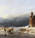 Schelfhout Andreas Scaters near castle Sun