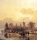 Schelfhout Andreas Scaters near two master Sun