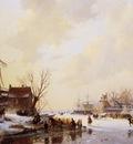 schelfhout andreas winter market on ice sun