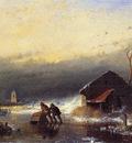 Schelfhout Andreas Winter storm Sun